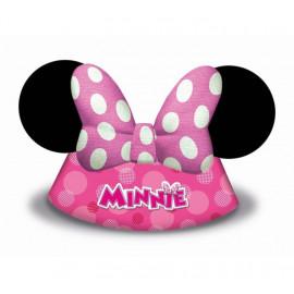 """Papírové kloboučky myška Minnie """"Minnie Happy Helpers"""" , 6 ks"""