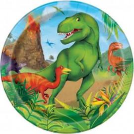 Talíře Tyranosaurus 8ks 17cm