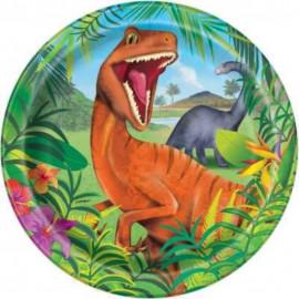 Talíře Tyranosaurus 8 ks, 22 cm