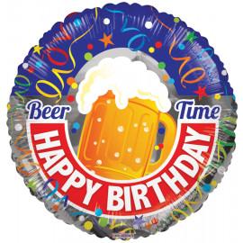 Balon foliový Čas na pivo 46cm 1ks
