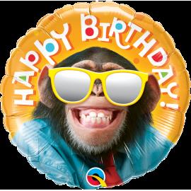 Balon foliový - Usměvavý šimpanz 46cm 1ks