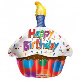 Balónek foliový 46cm - CUPCAKE Happy Birthday