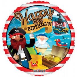 Balon foliový 46cm - Pirátské narozeniny