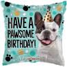 Balon foliový Polštář 46cm - Have a pawsome birthday