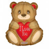 Balón foliový 46cm - Medvídek I Love You