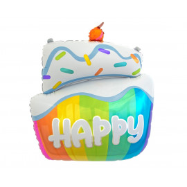 Balon foliový 60cm Happy Cake