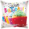 Balon foliový Polštář 46cm - Cupcake narozeniny