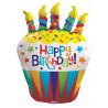 Balon foliový 91cm - Cupcake se svíčkami