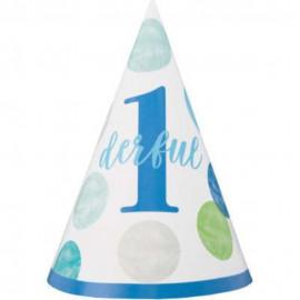 Kloboučky  1. narozeniny 1 ks modré