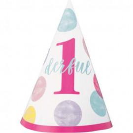 Kloboučky  1. narozeniny 1 ks růžové