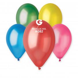 Latexové balonky Mix 10ks metalické
