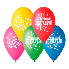 Latexové balonky Všechno Nejlepší 5ks