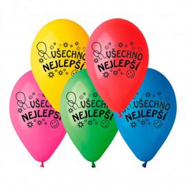 Latexové balonky Všechno Nejlepší 10ks