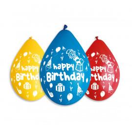 Latexové balonky závěsné Hbirthday 30cm 5ks
