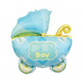 Foliový balon Baby boy Kočárek 60cm