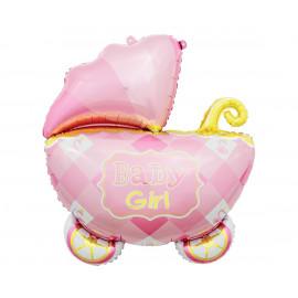 Foliový balon Baby girl Kočárek 60cm