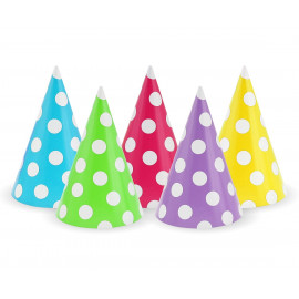 Papírové kloboučky 5 barev, 5ks
