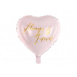 Balon foliový Srdce Always 45cm pink