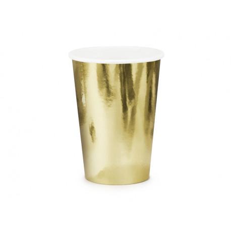 Papírové kelímky zlaté,220ml,6ks