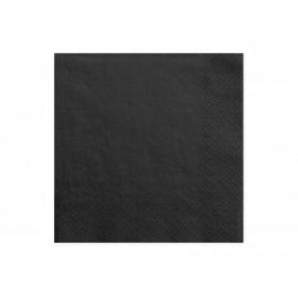 Papírové ubrousky Černé, 33x33cm,20ks