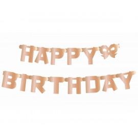 Girlanda-Banner Happy Birthday,11x160cm,rosegold