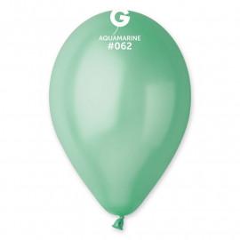 Balonky 1ks aquamarine 26cm metalické
