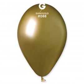 Balónky chromované 1 ks zlaté lesklé - průměr 33 cm