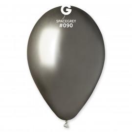 Balónky chromované 1 ks vesmírně šedé lesklé - průměr 33 cm