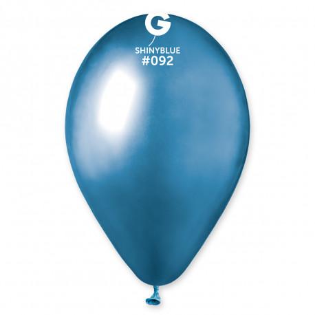 Balónky chromované 1 ks modré lesklé - průměr 33 cm