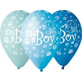Latexové balonky Je to kluk, 31cm/5ks