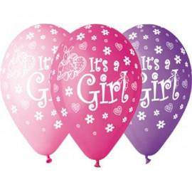Latexové balonky Je to holka, 31cm/5ks
