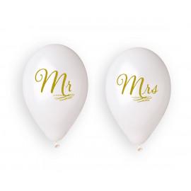Latexové balonky Mr a Mrs, 34cm/4ks