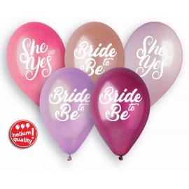 Latexové balonky Bride to be,34cm/5ks