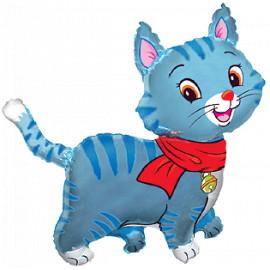Balon foliový Lovely blue kitty, 62cm