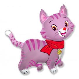 Balon foliový Lovely pink kitty, 62cm
