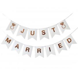 Girlanda-Banner Just Married, 300x18 cm, DIY,