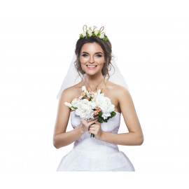 Čelenka se závojem Bride