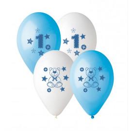 Latexové balonky 1 rok kluk, 5ks