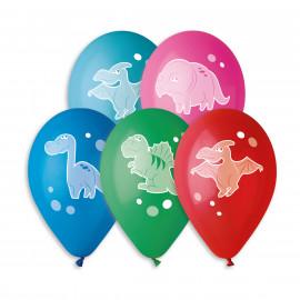 Latexové balonky Veselí Dinosauři, 5ks,