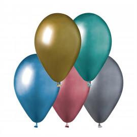 Latexové balonky Chrom mix, 5ks,