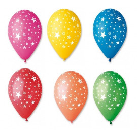 Latexové balonky Hvězdy,30cm,1ks