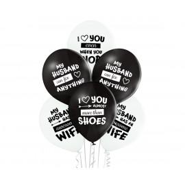 Latexové balonky 30cm, Nejlepší manžel,6ks