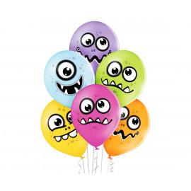 Latexové balonky 30cm,Zábavná monstra,6ks