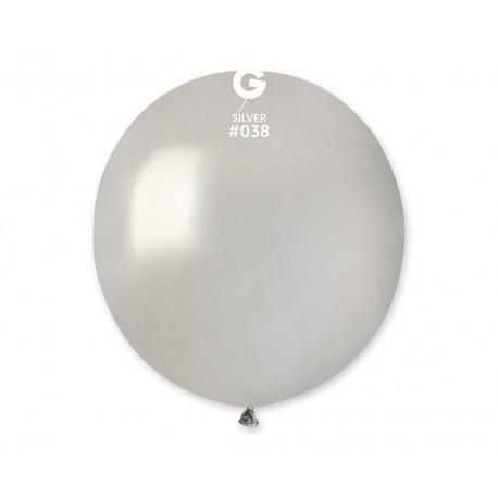 Balon latexový 48cm, Stříbrný Metalický,1ks