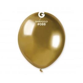 Balonek chromovaný Zlatý,13cm,1ks