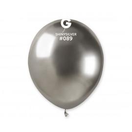 Balonek chromovaný Stříbrný,13cm,1ks