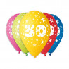 Silné Balónky 30cm metalické mix - Birthday No.30,1ks