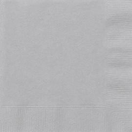 Papírové ubrousky stříbrné dvouvrstvé, 20ks