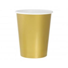 Papírové kelímky Zlaté,270ml,14ks