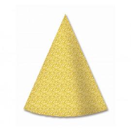 Papírové kloboučky Zlaté,6ks